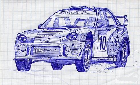 Russian cars drawn with a ball-pen 3