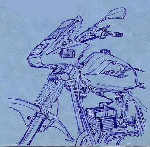 Russian cars drawn with a ball-pen 5