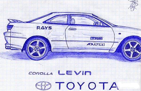 Russian cars drawn with a ball-pen 6