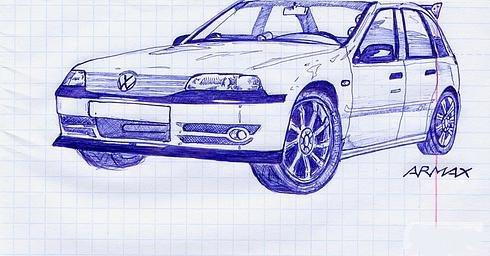 Russian cars drawn with a ball-pen 7