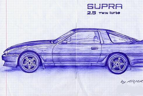Russian cars drawn with a ball-pen 9