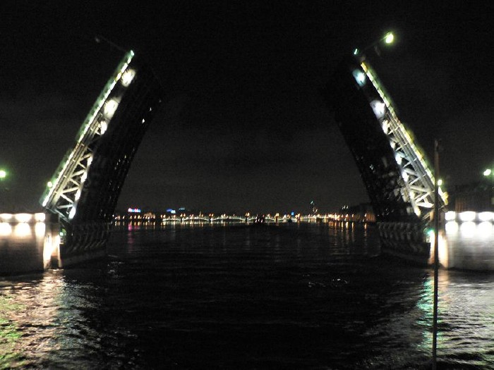 St. Petersburg bridges at night 7