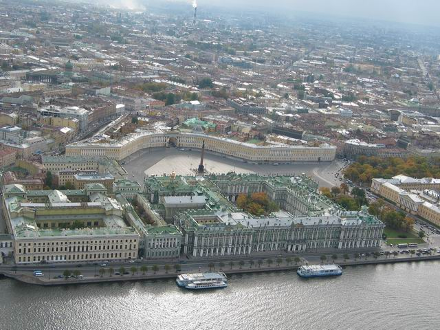 aerial view of St. Petersburg 1