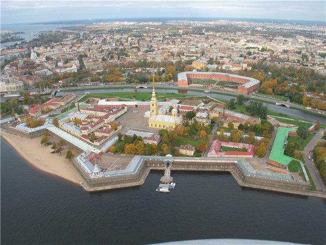 aerial view of St. Petersburg 49