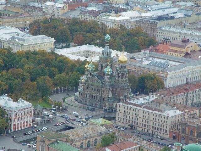 aerial view of St. Petersburg 5