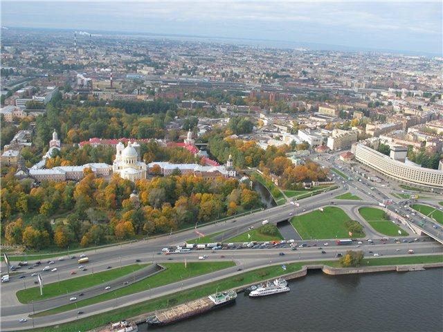 aerial view of St. Petersburg 53