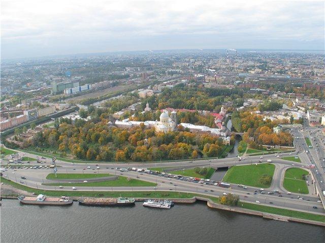 aerial view of St. Petersburg 54