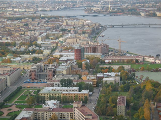 aerial view of St. Petersburg 55