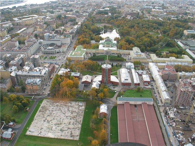 aerial view of St. Petersburg 56