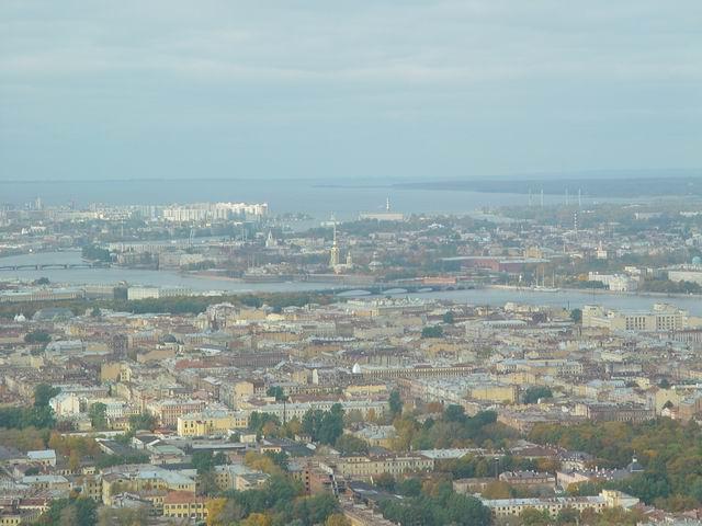 aerial view of St. Petersburg 9