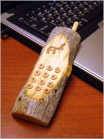 Russian Wooden phone with a bottle opener 1