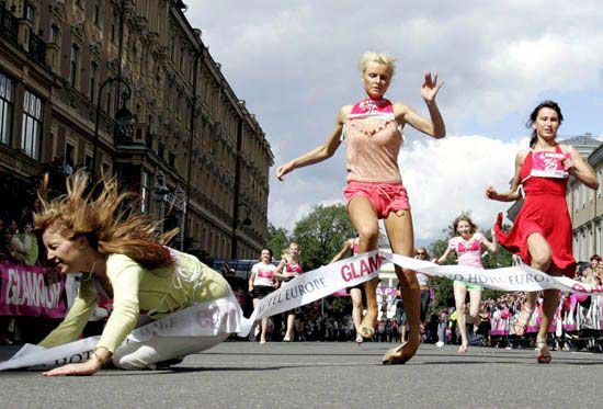 Pin-Up Run Contest in St. Petersburg 2