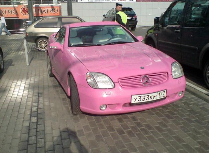 Мода на розовые автомобили (5 фото)