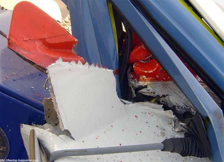 plane hits car 4