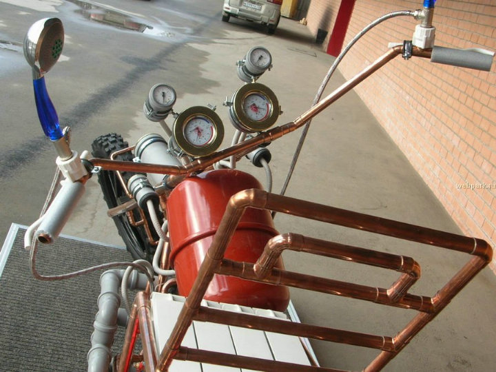 self-made bike from water pipes 5