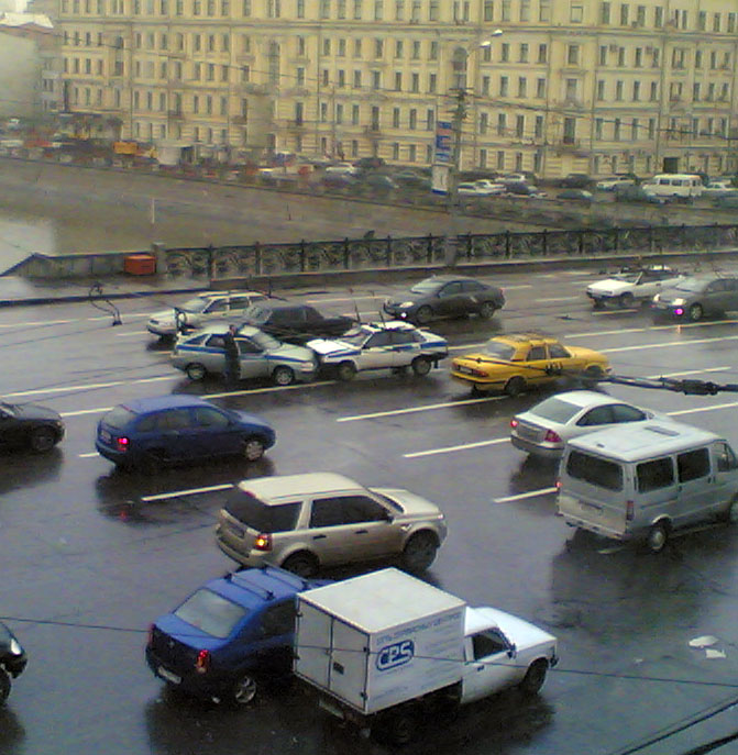 two police cars crashed in Russia 1