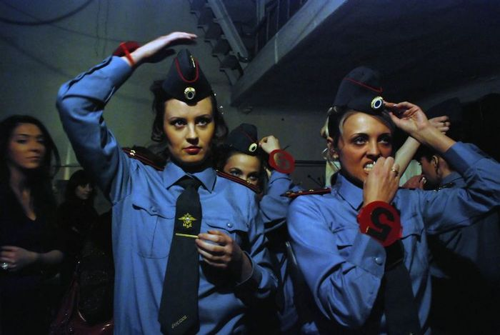 Russian police girls at Police beauty contest, photo by Goldenshtein Y.
