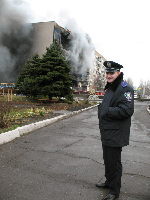 Fire is so funny, biggest fire in Donetsk, Ukraine, for the last 40 years, photo by K. Bunovsky