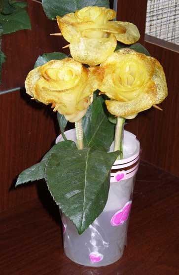 Russian recipe - potato roses 12