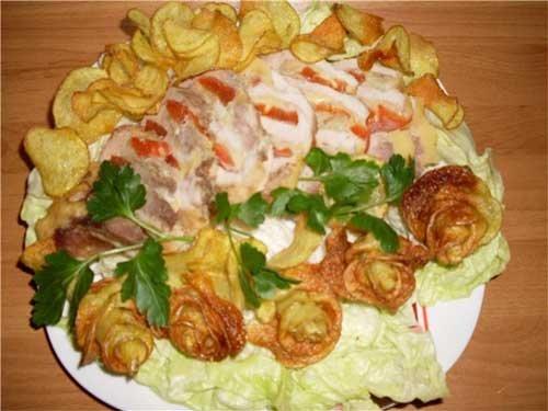 Russian recipe - potato roses 13