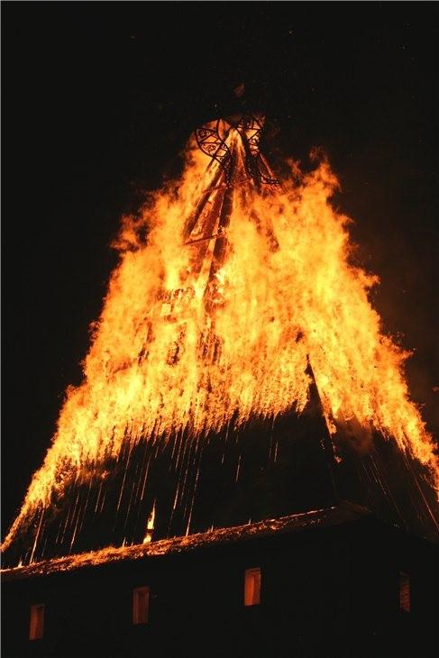 Pskov Citadel In Fire 13