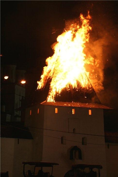 Pskov Citadel In Fire 2