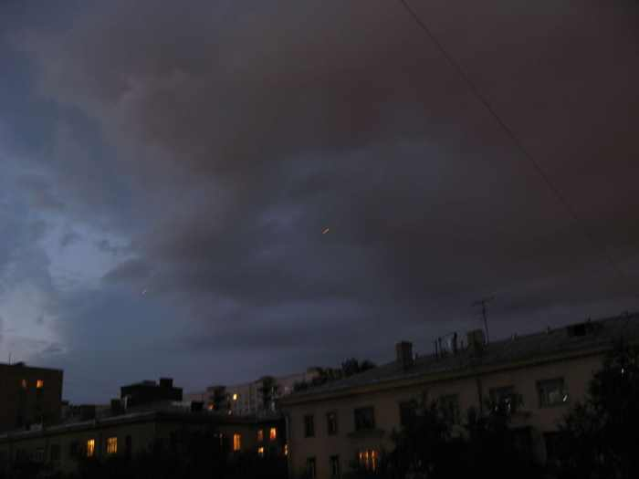 red flying dots on Moscow skies 6