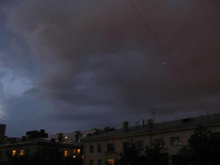 red flying dots on Moscow skies 7