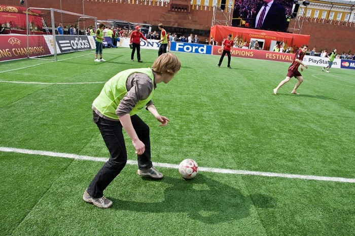 Playing soccer on the Red Square, Moscow, Russia 4