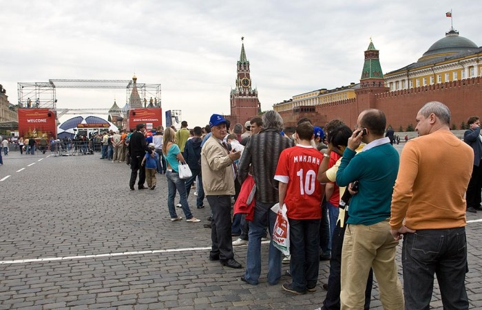 Playing soccer on the Red Square, Moscow, Russia 5