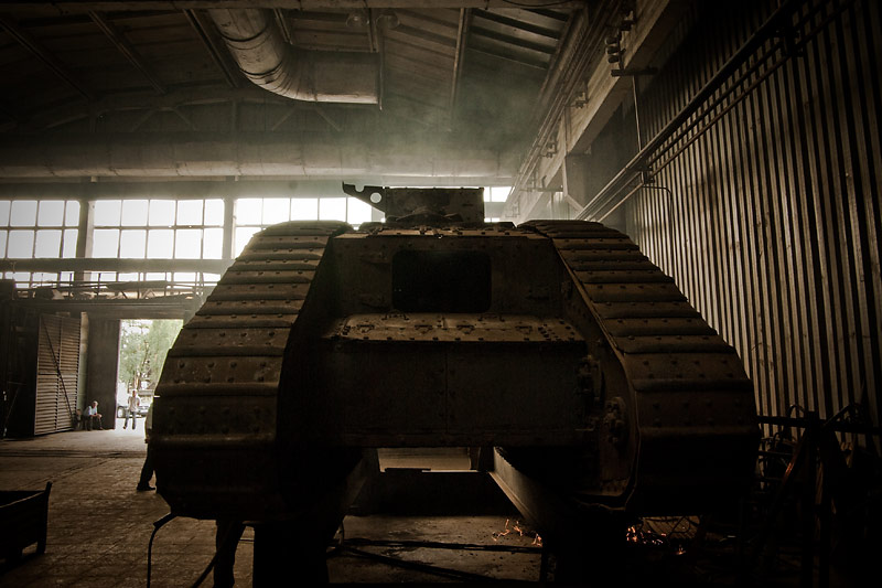 Hundred year old Mark V tanks refurbished 10