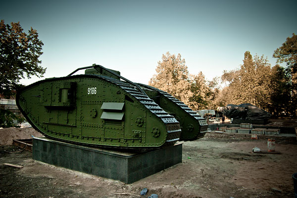 Hundred year old Mark V tanks refurbished 36