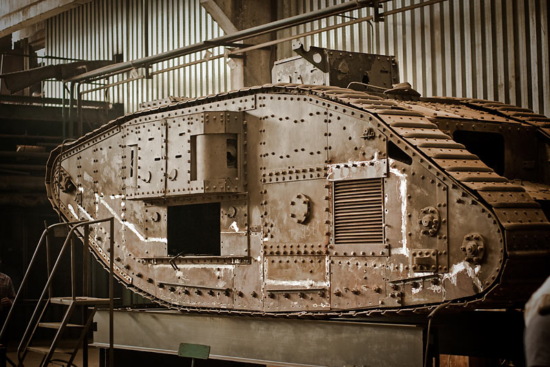 Hundred year old Mark V tanks refurbished 8
