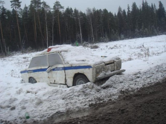 Russian road patrol
