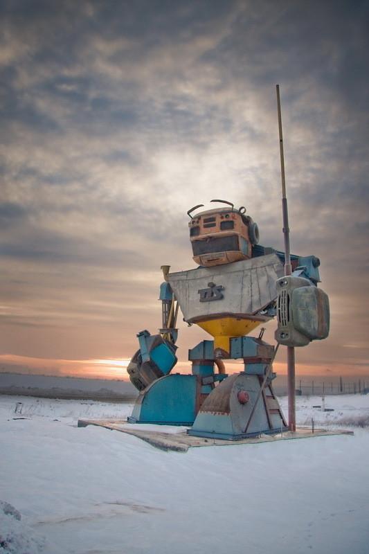 Russian robot in Odessa