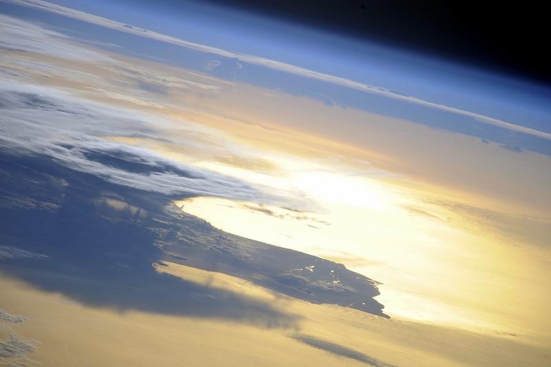 russian astronaut shooting earth 17