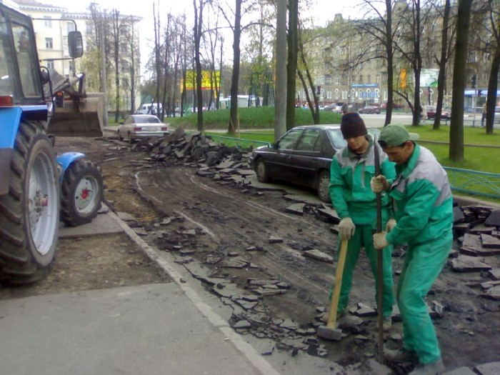 how they put asphalt in moscow 3