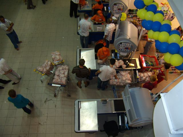 full trollies of frozen chicken  6