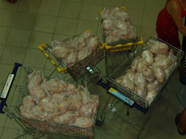 full trollies of frozen chicken  7