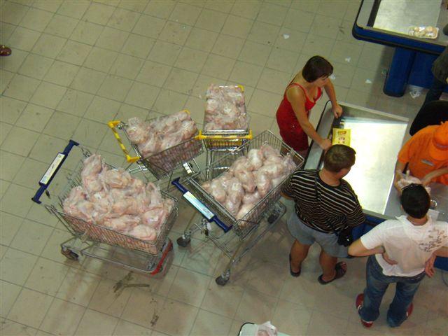 full trollies of frozen chicken  8