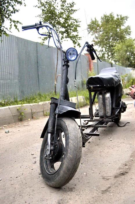 self-fabricated scooter-limousine 2