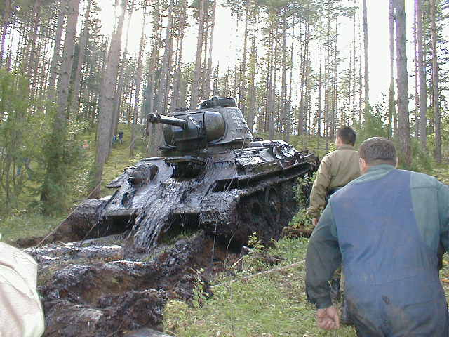 Russian tank t-34 from Estonian swamp 10