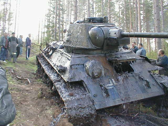 Russian tank t-34 from Estonian swamp 11