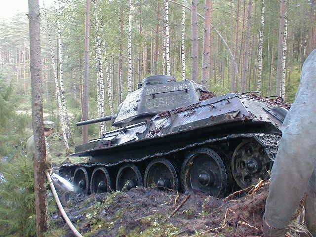 Russian tank t-34 from Estonian swamp 12