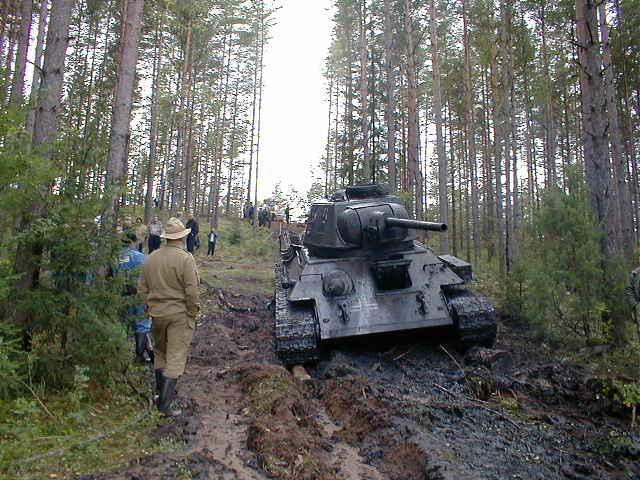 Russian tank t-34 from Estonian swamp 13