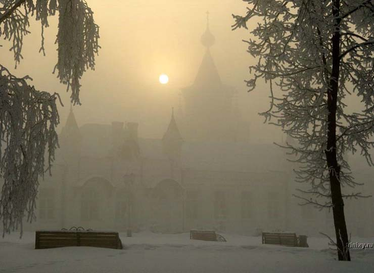 Russian nature in winter 12