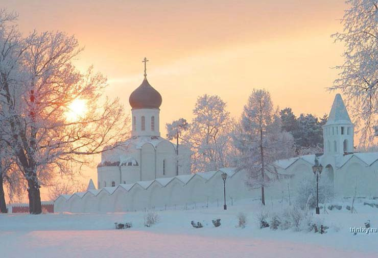 Russian nature in winter 2