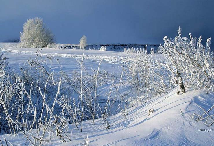 Russian nature in winter 25