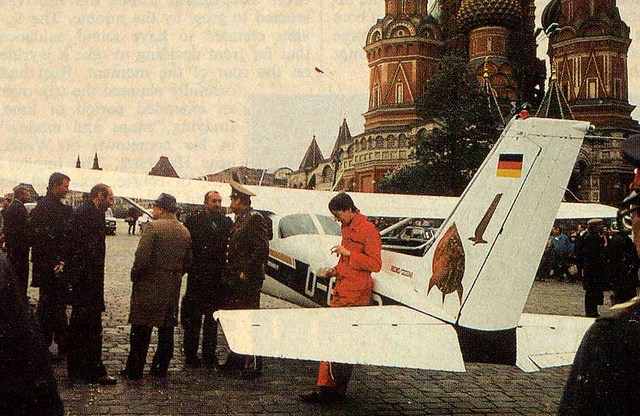 mathias rust landed on red square of Moscow city in 1987