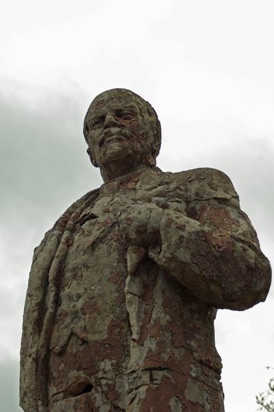 Lenin monument rusted  2